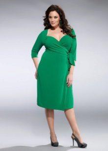Vestido de noite verde com mangas para tamanho 52