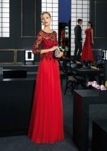 Vestido de noite vermelho