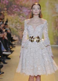 Fehér estélyi csipke ruha