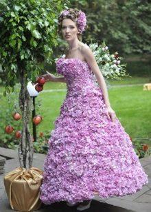 Vestit de nit de flors a silueta