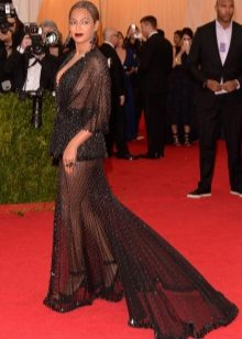 Frank avondjurk met trein Beyonce