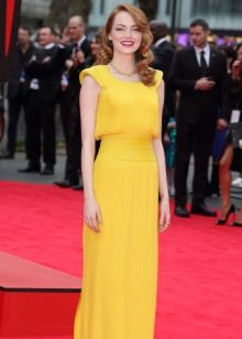 Evening dress yellow beautiful
