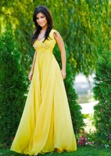 Evening dress yellow Ani Lorak