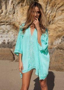 Vestido de túnica turquesa