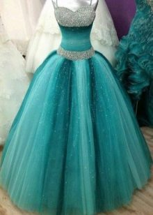 Vestido turquesa fofo