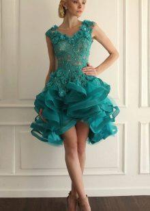 Vestido de renda turquesa fofo