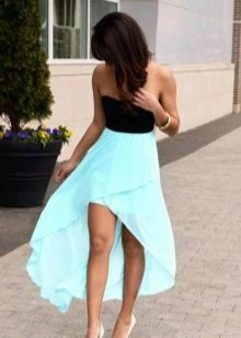 Vestido preto turquesa