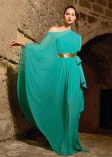 Vestido longo turquesa noite