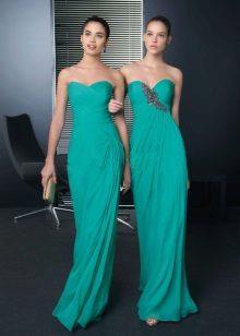 Sombra escura de vestidos turquesa