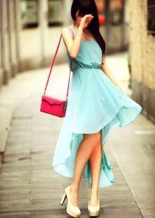 Vestido turquesa macio