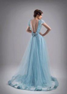 Vestido de noite azul