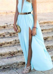 Turkoois blauwe jurk