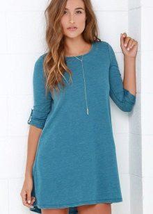 Blauwe jurk met turquoise tinten