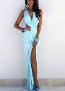 Acessórios vestido azul