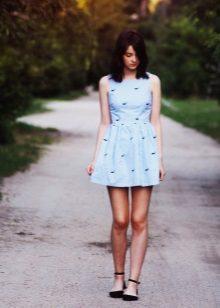 Zacht blauwe jurk