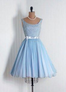 Evening short blue dress
