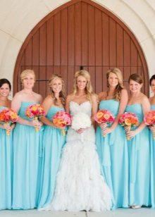 Mga Blue Bridesmaid Dresses