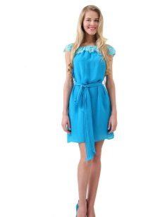 Bright blue dress
