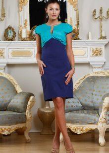 Blauwe en blauwe jurk