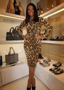 Leopar kılıf elbise