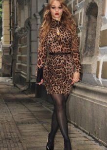 Leopar elbise - onurunu
