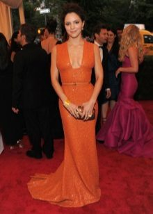 Long Orange Dress