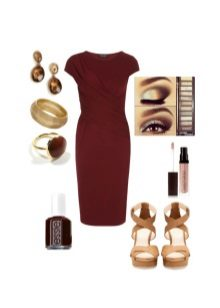 Makeup and accessories for dress eggplant color