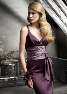 Dress color eggplant for blonde