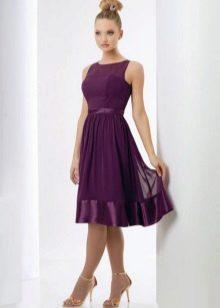 Dress eggplant medium length