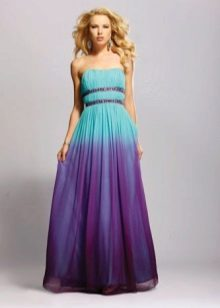 Violet-turquoise dress