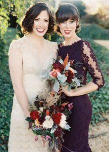 Violet dress and milk wedding