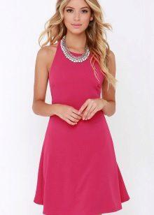 Simple dress fuchsia