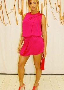 Fuchsia Short Chiffon Dress