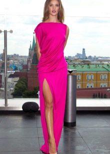 Beige shoes for a long dress fuchsia