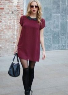 Dress marsala mini-pituus