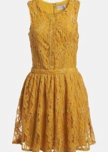 Lace Mustard Dress