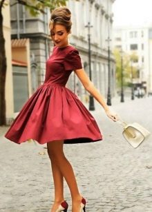 Crimson Midi Dress