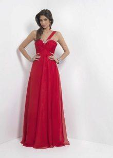 Long dress crimson color