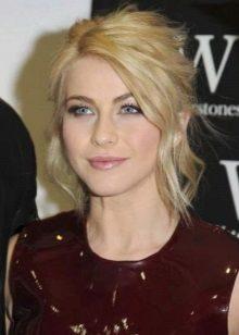 Natural makeup under the burgundy dress
