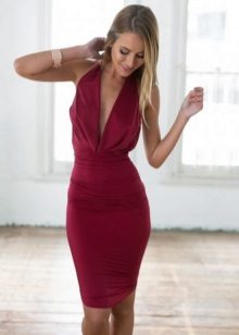 Burgundy Dress for Blonde