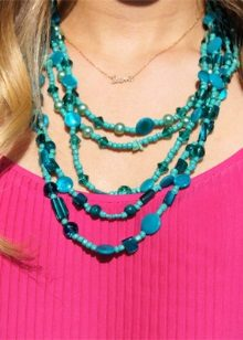 Turquoise jewelry to dress fuchsia