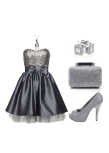 Gray dress with silver ornaments