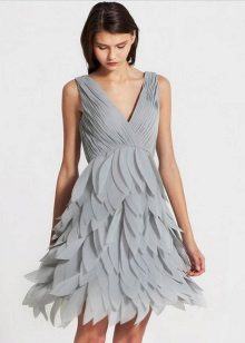 Chiffon grey dress
