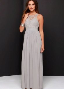 Long evening grey dress