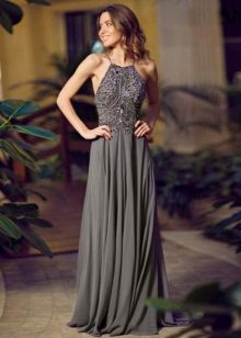 Long evening dress na grey