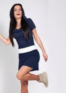 Sportif Lacivert Elbise