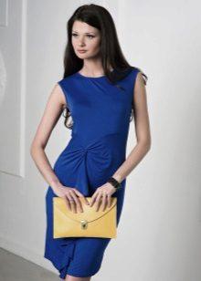 Koyu mavi kılıf elbise