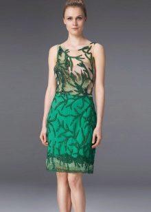 Vestido verde midi noite