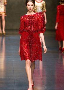 Vestido vermelho de noite de Dolce e Gabbana