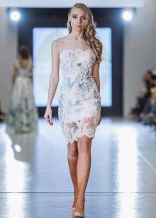 Vestido de renda de Oksana Muha midi